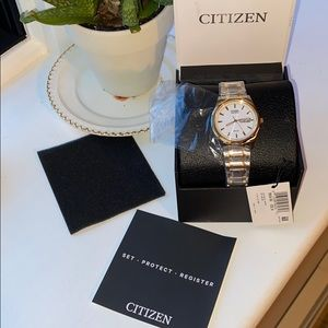 New in box Citizen Eco-Drive two time watch